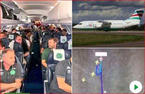 سقوط هواپیما ی بازیکنان فوتبال برزیل