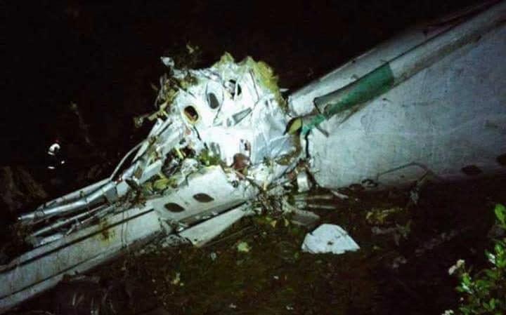 علت سقوط هواپیمای بازیکنان فوتبال برزیل + عکس