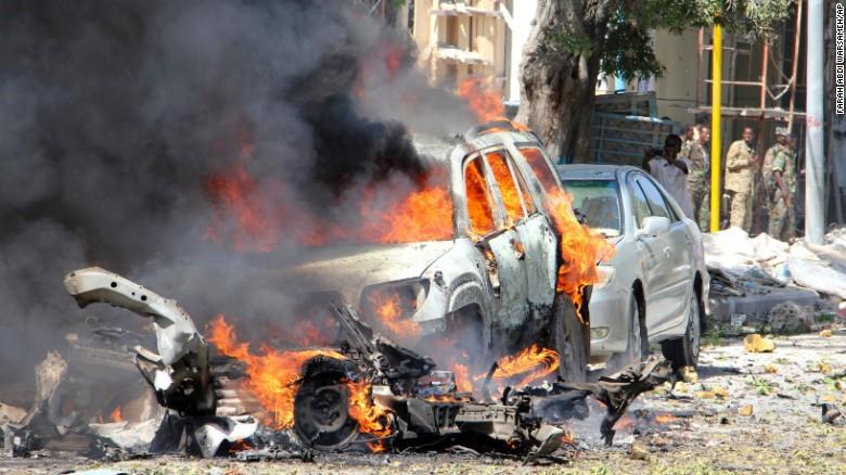 5 کشته و ده ها زخمی در انفجار خودرو بمب گذاری شده در پایتخت سومالی