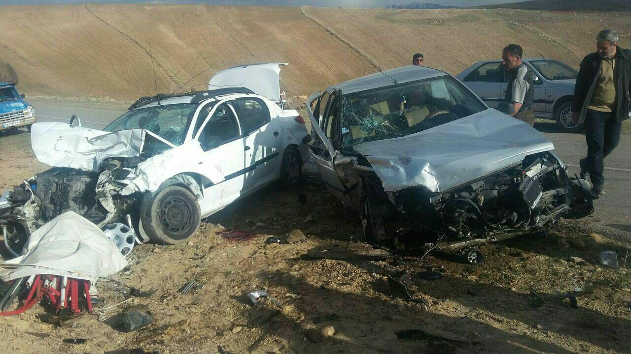 برخورد مرگبار دو خودرو در ملکان با ۱ کشته و ۵ مصدوم