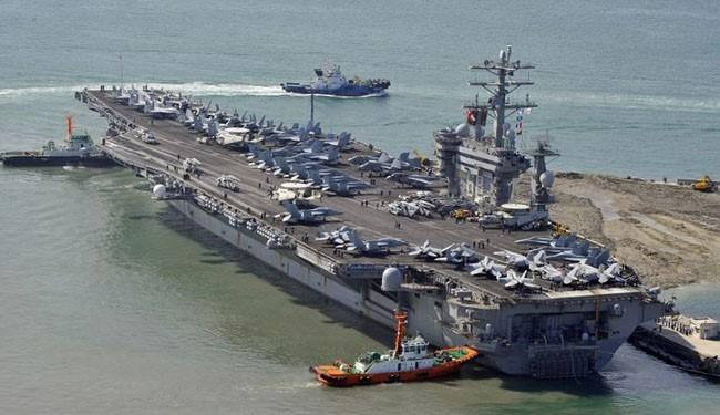آمریکا؛ دزد غارتگر خلیج فارس/ناوهای غول پیکر ایالات متحده چرا در آبهای منطقه حضور دارند؟