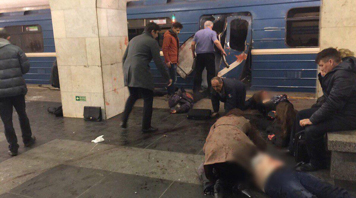 وقوع انفجار در ایستگاه مترو «سنپترزبورگ» روسیه/ دستکم ده نفر زخمی شدند+ عکس