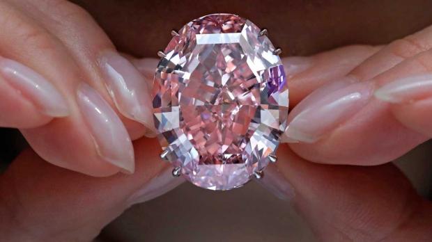 رکورد جدید حراج الماس صورتی 60 قیراطی+عکس
