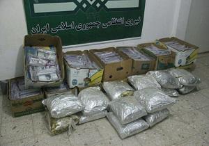 درگیری ماموران پلیس با قاچاقچیان مسلح /کشف 594 کیلو مواد افیونی