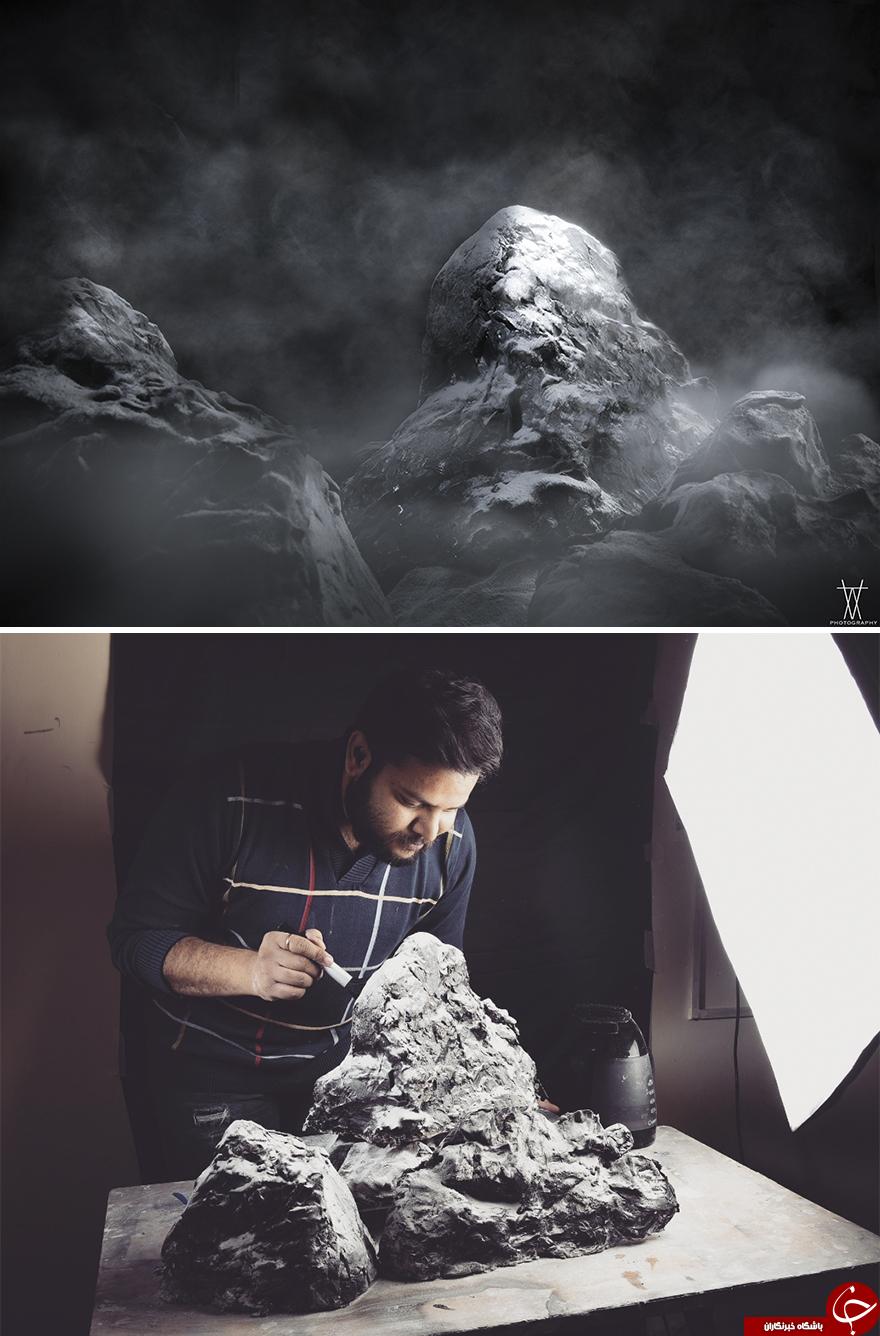 خلق آثار هنری شگفت انگیز توسط عکاس هندی