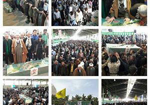 پیکر شهید مدافع حرم در خمینیشهر تشییع شد
