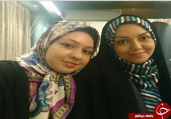 آزاده نامداری و خواهرش + عکس