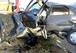 یک کشته در برخورد خودروی سمند با پیکان در محور یاسوج -اصفهان