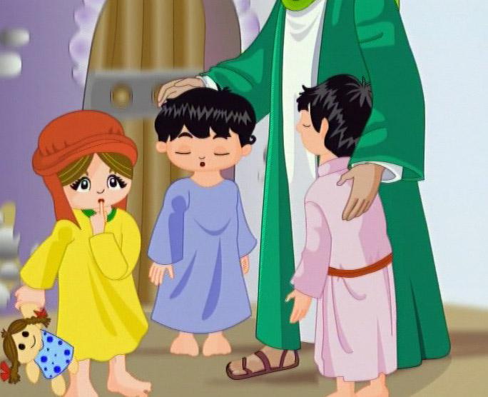 تصاویر نقاشی کعبه شعر در مورد امام علی (ع) برای کودکان