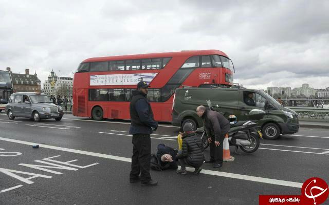 تیراندازی در نزدیک پارلمان انگلیس/ دست کم 12 نفر زخمی شدند+ تصاویر