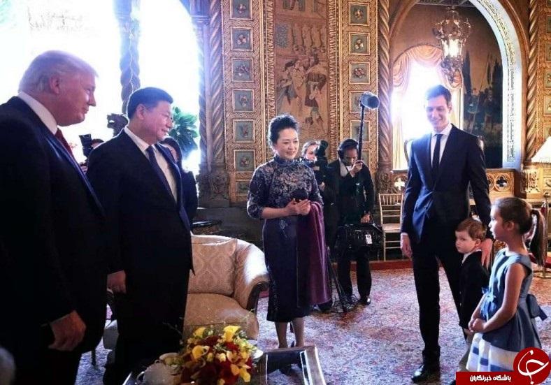 آواز خوانی نوه ترامپ برای رئیس جمهور چین+ تصاویر