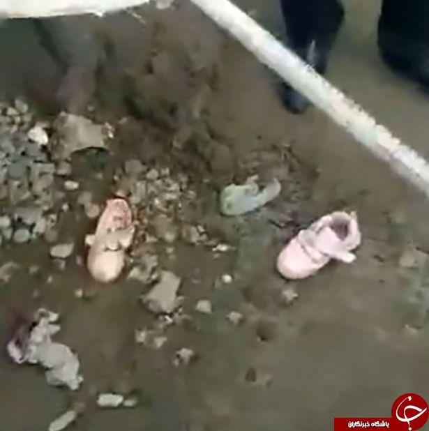 جان دادن دردناک دو دختر خردسال در دستگاه میکسر سیمان + فیلم /18+