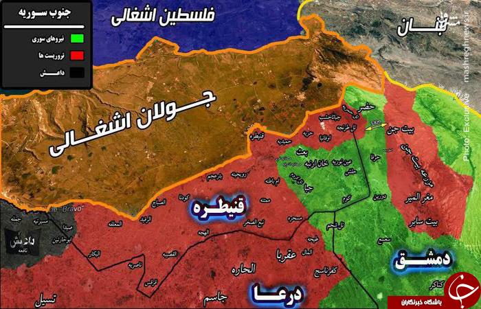 دمشق چگونه از خطر سقوط گریخت / چه مناطقی از استان دمشق در کنترل ارتش سوریه و تروریست هاست؟ + نقشه میدانی