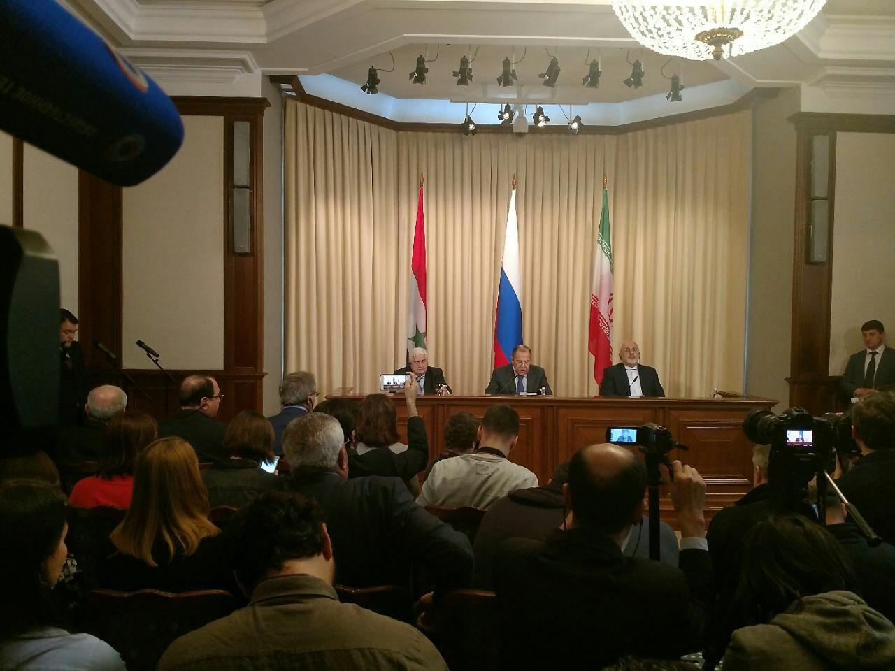 آغاز مذاکرات سه جانبه وزرای خارجه ایران، روسیه و سوریه در مسکو