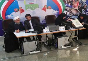 لحظه ثبت نام روحانی در انتخابات ریاست جمهوری دوازدهم + فیلم