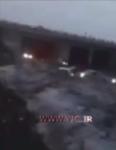 صحنه هولناک ریختن پل در سیل آذرشهر +فیلم