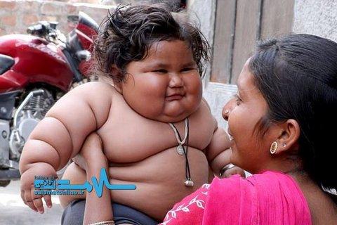 این دخترک ۸ ماهه هر چه می خورد سیر نمی شود! +تصاویر