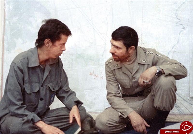 شهید صیاد شیرازی و شهید حسن باقری در یک قاب+عکس