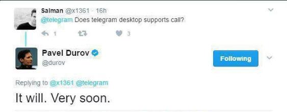 تماس صوتی  تلگرام به زودی روی دسکتاپ نیز فعال میشود