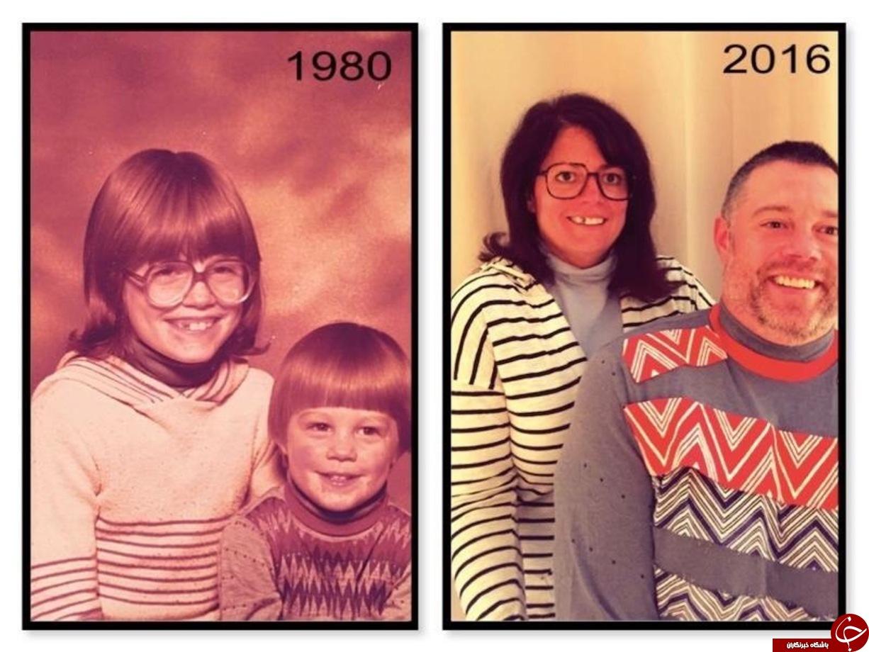 تکرار دوباره عکس های بچگی پس از چندین سال+تصاویر