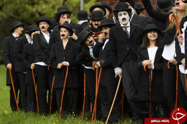 بزرگترین اجتماع طرفداران چارلی چاپلین در جهان + تصاویر