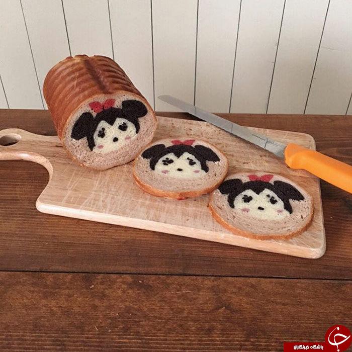 نان هایی که این زن می پزد منحصر بفرد است+ تصاویر