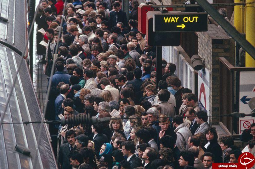 متروهای لندن سه برایر ظرفیت خود مسافر دارند+ تصاویر