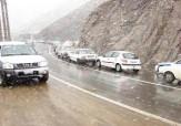 باشگاه خبرنگاران -بارش برف در گردنه های استان