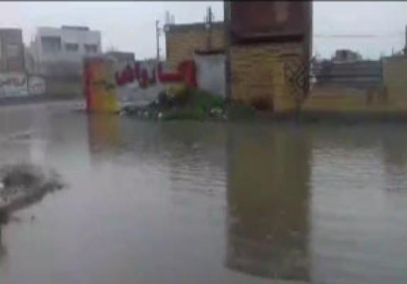 باشگاه خبرنگاران -آبگرفتگی خیابانها در گنبد کاووس + فیلم