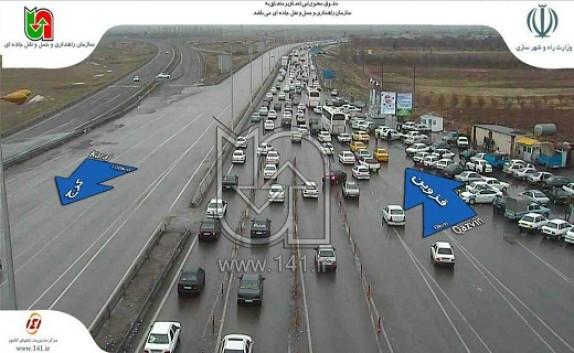 باشگاه خبرنگاران -ترافیک سنگین و نیمه سنگین در آزاد راههای قزوین