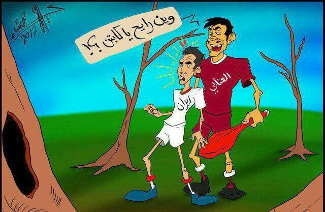 کاریکاتور توهین آمیز قطری ها