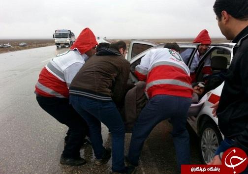 شش مصدوم در سانحه رانندگی + تصاویر
