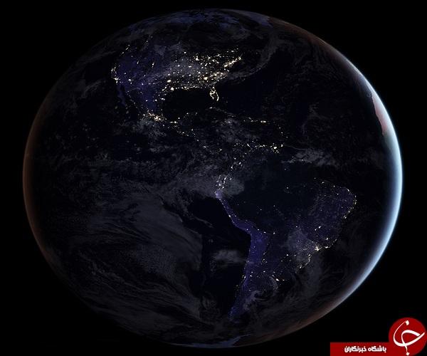 انتشار واضح ترین عکس ناسا از کره زمین در شب