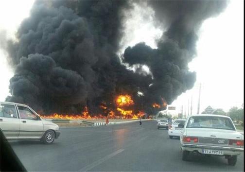 جدیدترین اخبار از حوادث جاده ای کشور/آتش سوزی ماشین عروس در بابل