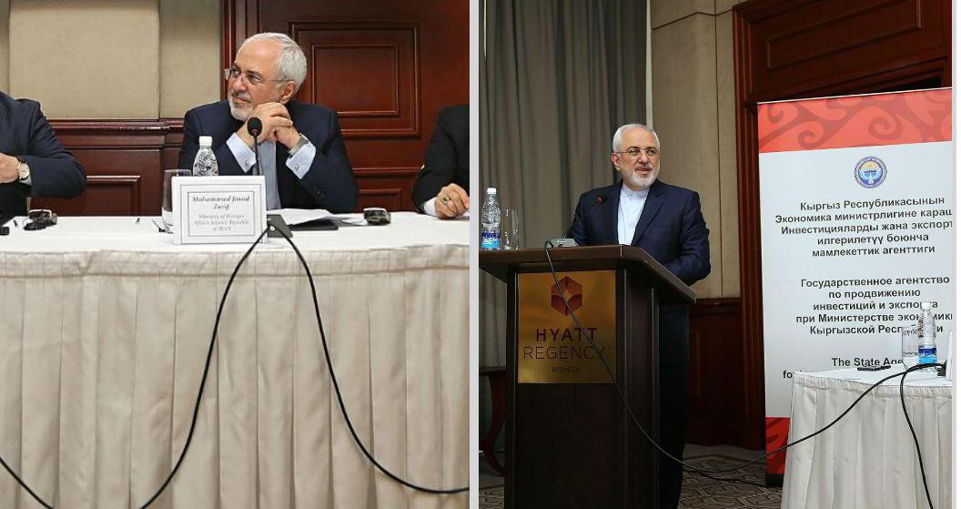 سخنرانی ظریف در جمع تجار ایران و قرقیزستان