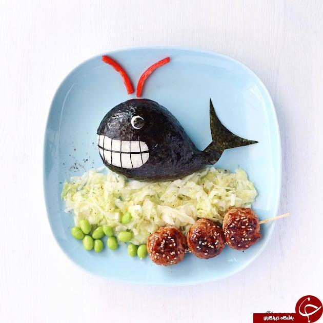 ايده های بسيار زيبا برای تزیین غذای کودک+تصاویر