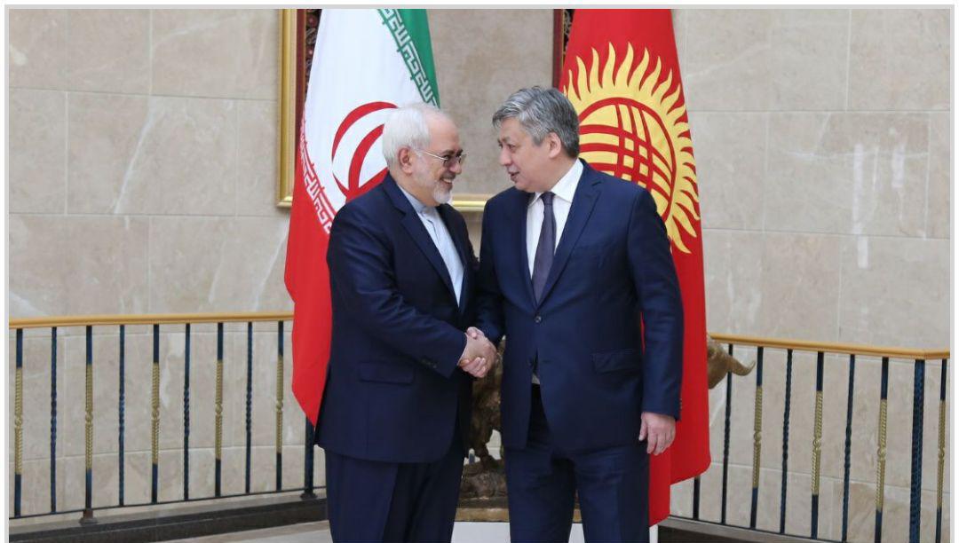 ظریف با همتای قرقیزستانی خود دیدار کرد