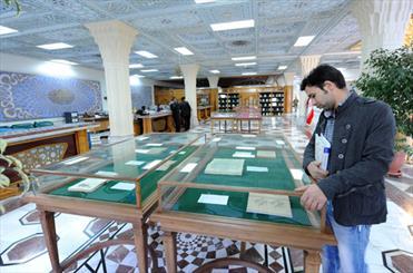 نمایشگاه آثار شاعران نامی ایران در کتابخانه مرکزی آستان قدس رضوی
