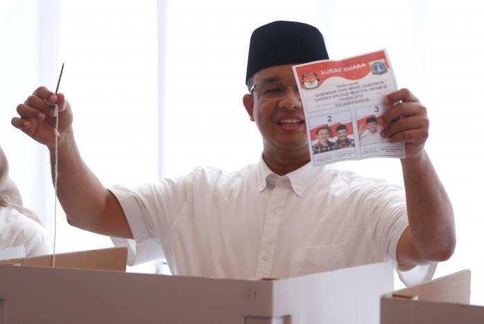 پیشتازی نامزد مسلمان در انتخابات فرمانداری جاکارتا