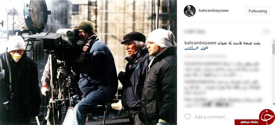 تصویر منتشر نشده از بهرام بیضایی در پشت صحنه یک فیلم+عکس