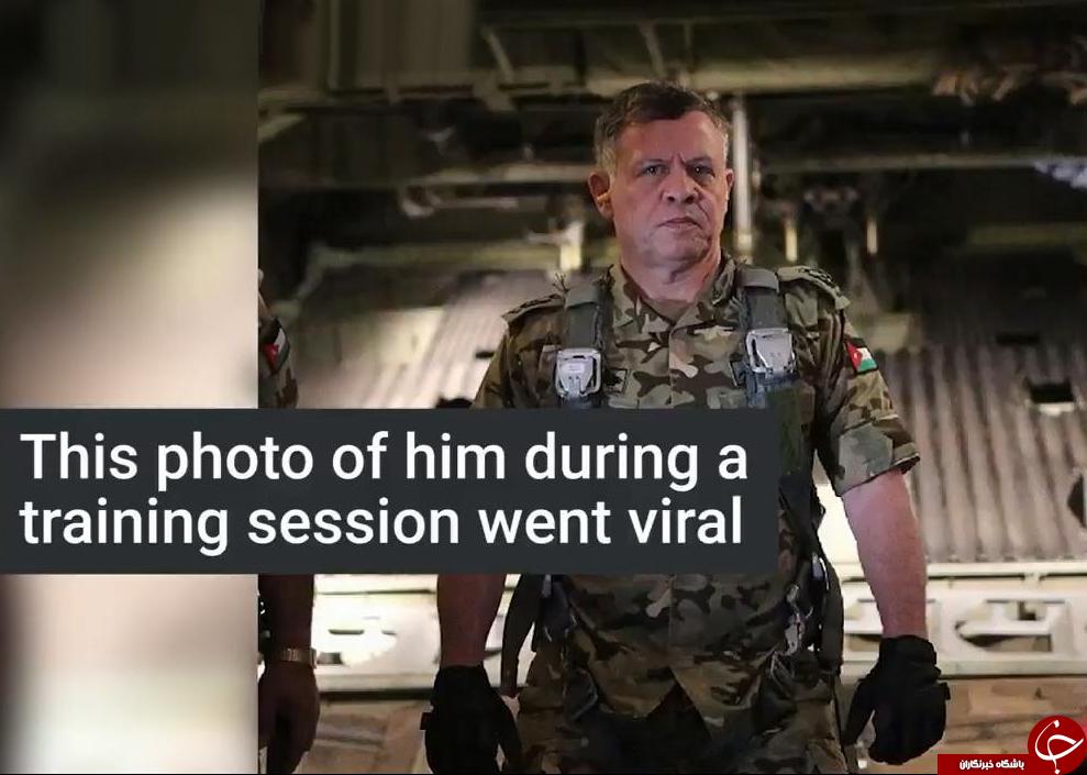 رزمایش دیدنی پادشاه اردن در یک مانور نظامی