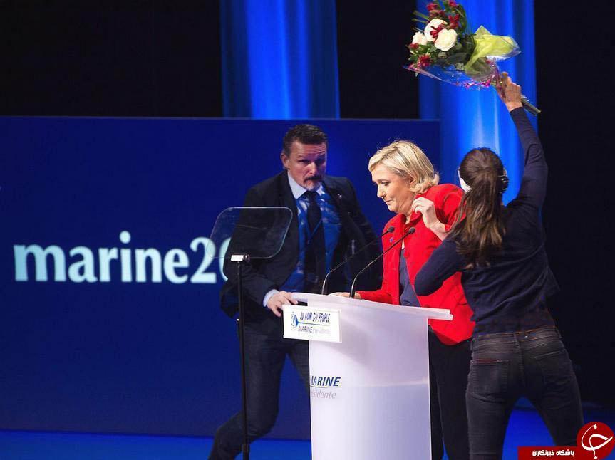 حمله یک شهروند فرانسوی به نامزد انتخابات ریاست جمهوری+تصویر
