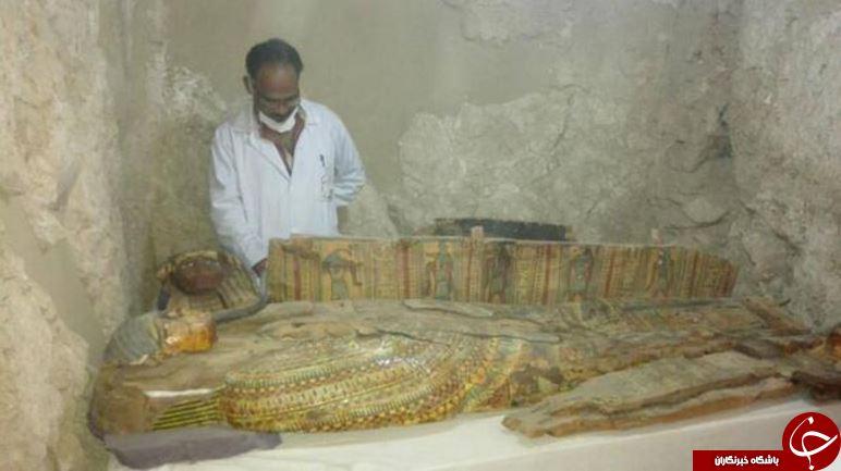 کشف یک قبر باستانی در مصر که گنجینهی با ارزشی در آن مدفون است+ تصاویر