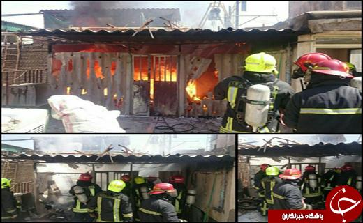 آتشسوزی یک مجموعه اقامتی در مشهد مهار شد+ عکس