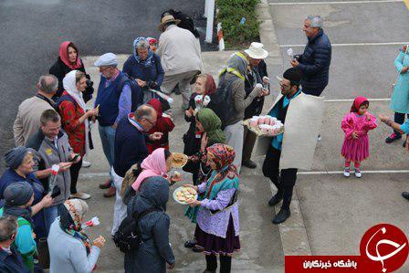 حضور گردشگران خارجی قطار عقاب طلايی در مازندران + تصاویر