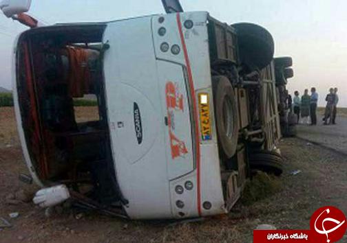 از 15 مصدوم در واژگونی اتوبوس تا 7 کشته و مصدوم در جاده قلات