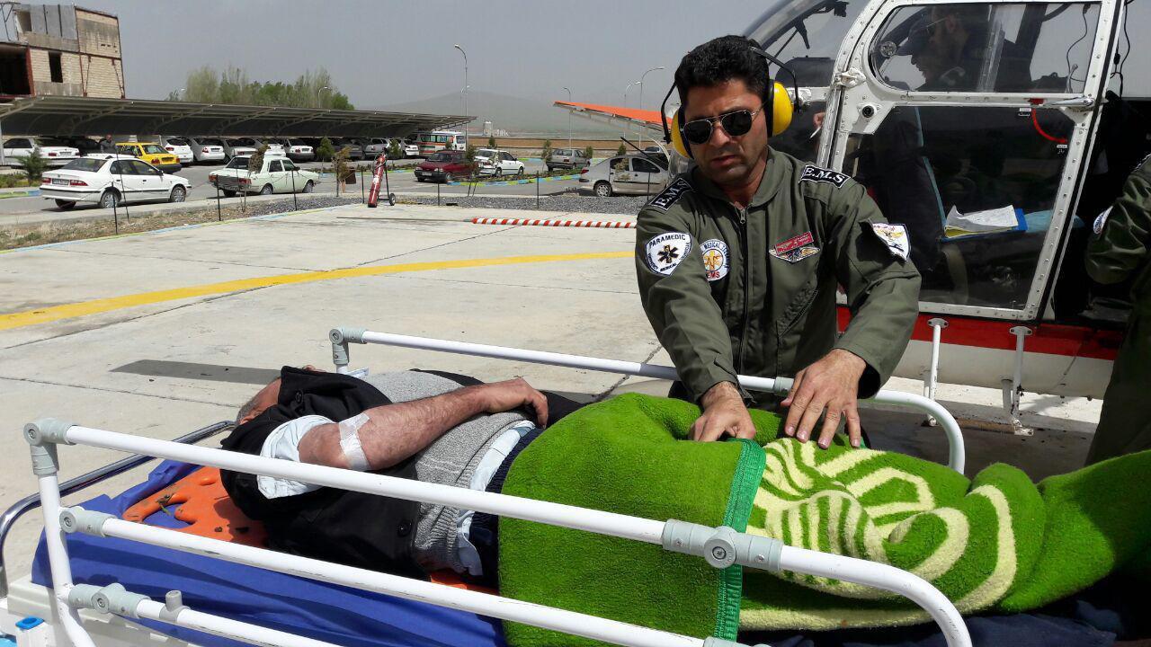 نجات جان بیمار الیگودرزی با کمک امداد هوایی