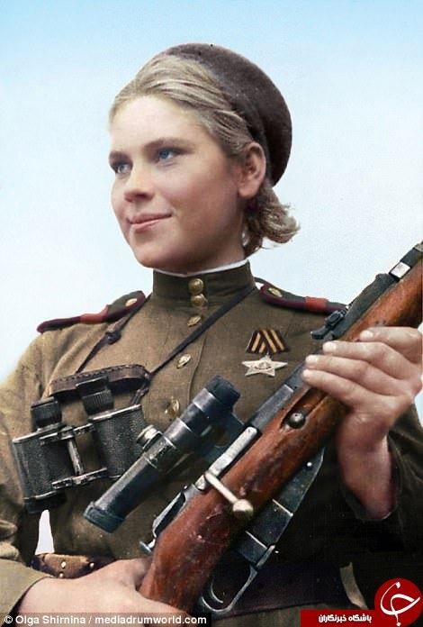 هنرمند روس به تصویر زنان مخوف جنگ جهانی دوم زندگی بخشید+تصاویر