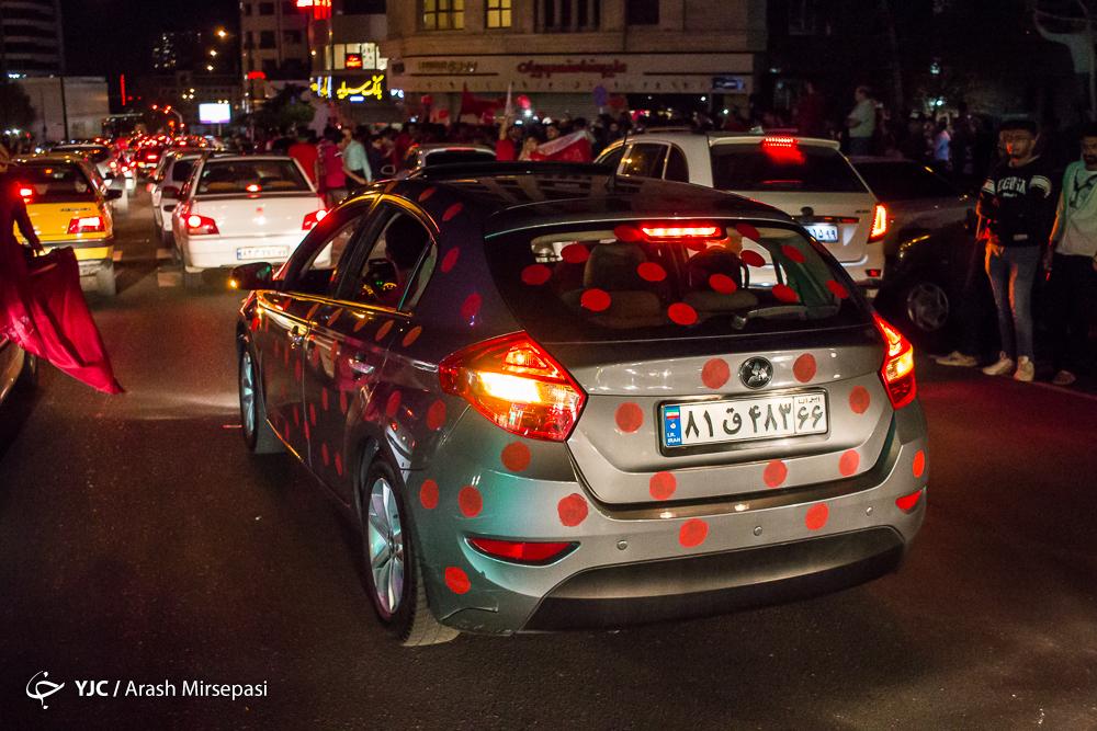 جشن هواداران پرسپولیس در خیابان ها
