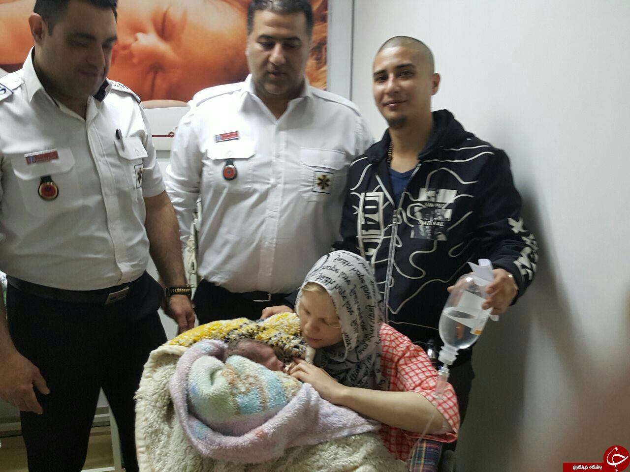 تولد نوزاد عجول دانمارکی در آمبولانس + تصاویر